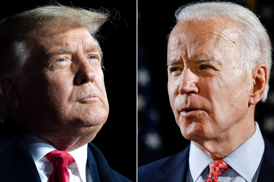 Trump and Biden. Source: AP/Getty Images