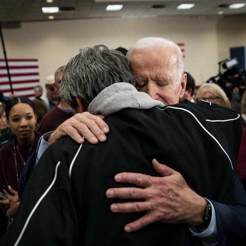 Character matters. Joe Biden is widely reputed for being a compassionate leader. Source: Al Drago/Getty Images
