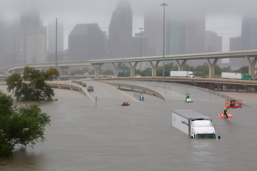 Houston, Texas, U.S. August 27, 2017. Evidence of our climate crisis.